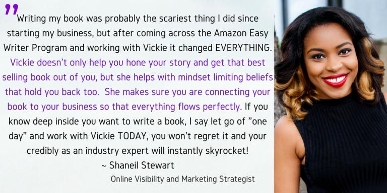 easy writer shaneil testimonial